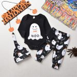 Newborn Infant Baby Boys Girls Halloween Ghost Romper Jumpsuit Pants Cap Costume