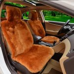 1Pc Real Sheepskin Fur Car Seat Covers One Size Fit Most (Universal Fit)