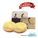 Red Ribbon 2 Cake Slice & 2 Ensaimada (SMS eVoucher)