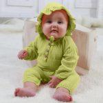 OSBORNSHOP_BABY Infant Baby Boys Girls Long Sleeve Solid Romper Jumpsuit+Hat Outfits Sets