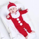 Toddler Baby Kids Girls Boys Christmas Print Junpsuit Romper Casual Clothes Hat