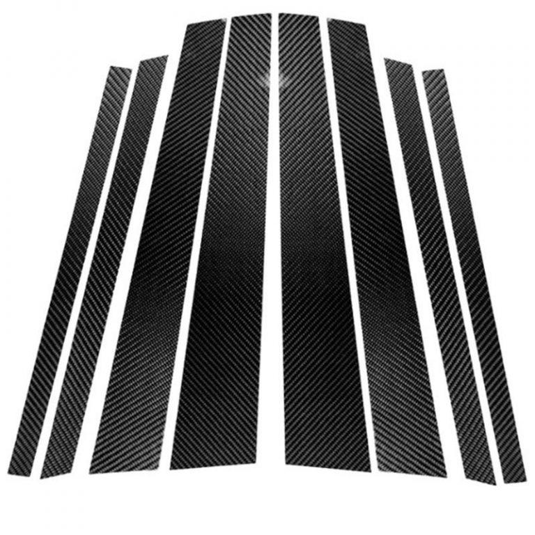 Carbon Fiber Car Window B-Pillars Decorative Sticker for Bmw E60 E90 F30 F10 F20 F07 E70 E84 E46 Car Styling Trim Accessories
