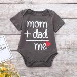 OSBORNSHOP_Toddler Newborn Baby Girls Boys Letter Printed Tops Bodysuit Romper Clothes
