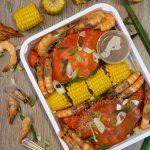 Steamed Crabs and Shrimps Platter