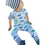 Bairdstore For Newborn Infant Baby Boys Girls Cartoon Dinosaur Print Romper Jumpsuit Outfits