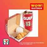 BUNDLE E: *7/11 Crunch Time 1pc Fried Chicken  and 1cup Gulp 22oz ( (BARCODES ONLY to be sent via LAZADACHAT)