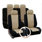 ELEC Breathable Faux Leather Car Seat Cushion Non-Rolling Up Vehicle Car Seat Cover