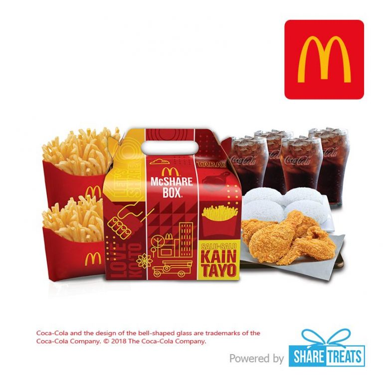 McDonald's McShare Bundle for 4 (SMS eVoucher)