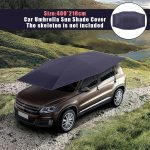 Car Umbrella Sun Shade Cover Tent Cloth 4X2.1M Waterproof Universal Car Umbrella Sunproof Sun Shade