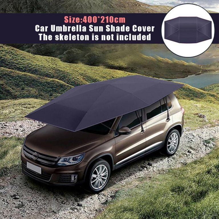 Car Umbrella Sun Shade Cover Tent Cloth 4X2.1M Waterproof Universal Car Umbrella Sunproof Sun Shade