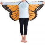 BABY MALL Kids Coat Jacket Child Kids Boys Girls Bohemian Butterfly Print Shawl Pashmina Costume Accessory Spring Autumn Winter Outerwear 2019 New Arrivel