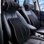 Car Headrest Lumbar Support Pillow Back Cushion Memory Foam Back Pain Relief Cushions