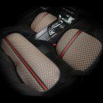 3 PCS Car seat cushion new summer supplies three-piece linen cute tie-free four seasons universal seat cushion
