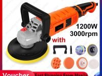 220V High Speed Car Polisher 6 Variable Speed 1200W High Power Car-polisher For Car Paint Care Polishing Waxing Free Pad Bonnet WAX