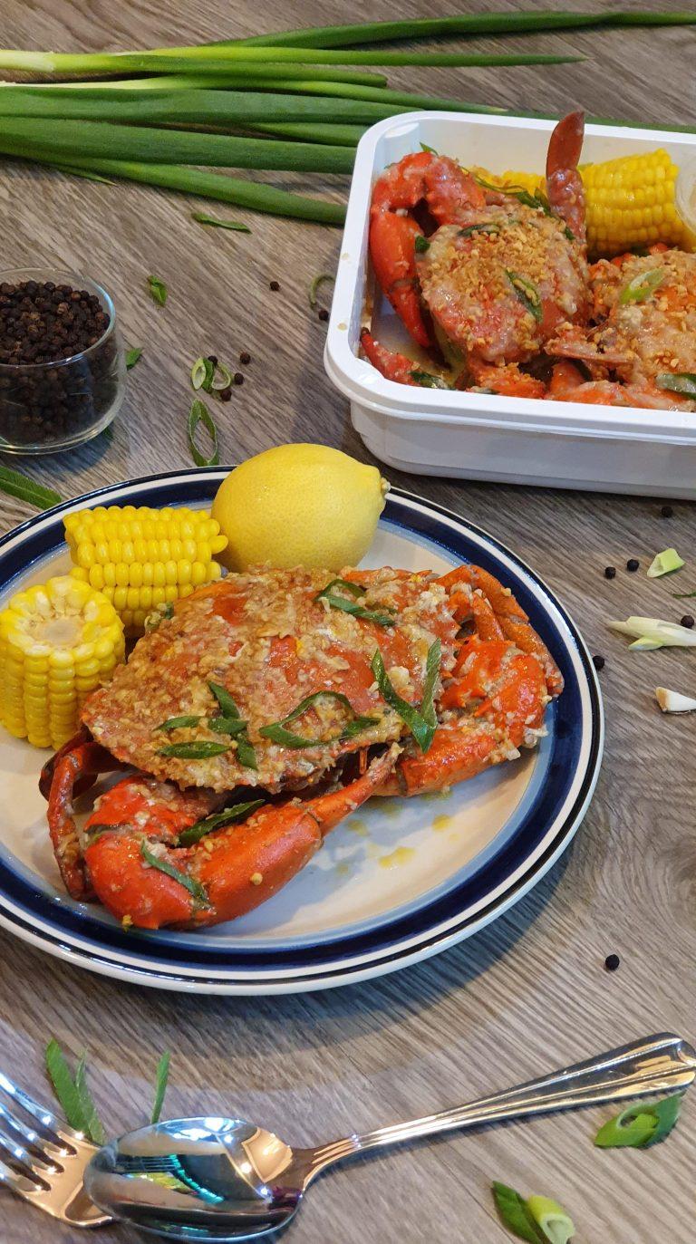 Signature Buttered Garlic All Crab Platter