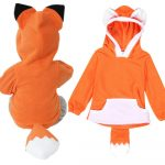 Warmihome_Child Cartoon Design Fox Baby Hooded Boy Girl Jacket Outwear Coats Kids Clothing