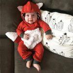 Tideshop Newborn Infant Baby Girls Boys 3D Cartoon Fox Hooded Romper Jumpsuit Outfits