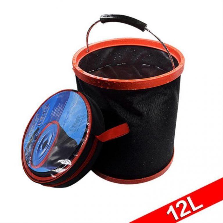 Multi-functional Car Retractable Garbage Can Outdoor Practical Convenient Car Bucket Trunk Car Umbrella Barrels Take