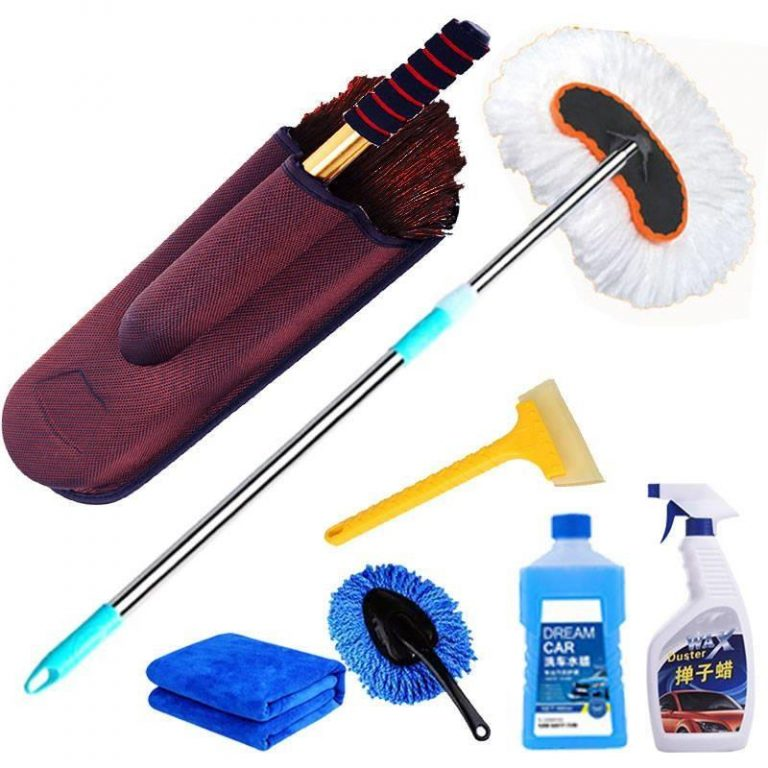 Telescopic Pure Cotton Wipe a Car MOP a Waxing Brush Car Duster Vehicle Cleaning Mop Does the Dust Sweeping Brush Sub-Car Cleaning Supplies