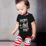 Toddler Newborn Baby Girls Boys Letter Printed Tops Bodysuit Romper Clothes