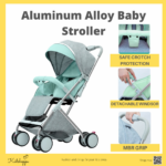 Kidshoppe One-Key Collection Aluminum Alloy Frame 6609-Duo Edition Baby Stroller Pram 0-36 months with Dual-use Cotton Pad