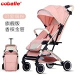Lightweight High Landscape Aluminum Alloy Baby Stroller Portable Simple Folding Shock Absorber Baby Four-wheel Trolley 0-4Y