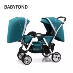 Baby Twin Strollers Foldable Face-to-Face Baby Strollers Pram Folding Baby Stroller For Twins + Free Gifts