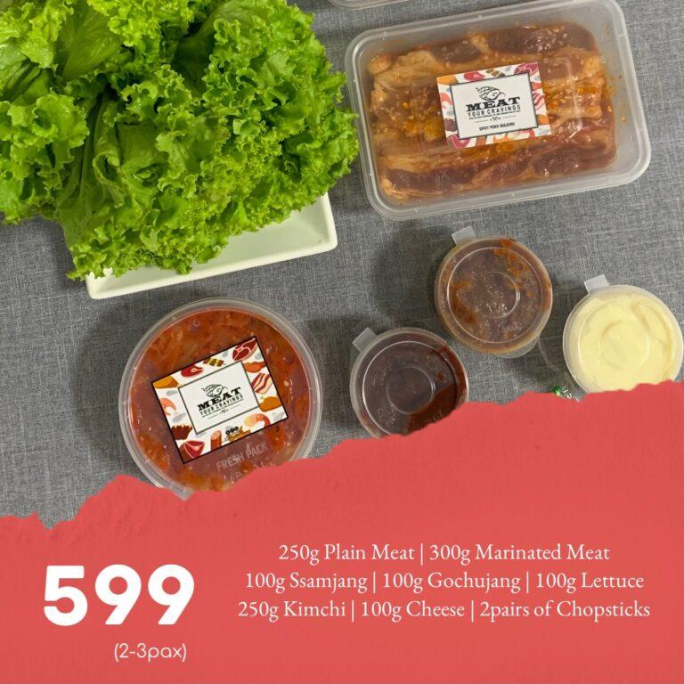 Meat Your Cravings: Korean BBQ Package 599 (Samyupsal & Woosamgyup)