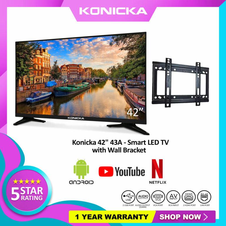 "Konicka 42"" 43A - SMART LED TV DN4 with BRACKET"