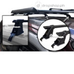 Universal Roof Rack BLACK 38X50 inches with GUTTER LESS Type Cross Bars