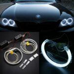 4x CCFL COB LED Angel Eye Halo Ring Light Lamp Set For BMW E46 E36 E39