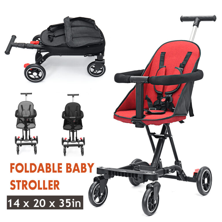 4 Colors Lightweight Foldable Baby Child Stroller Kids Travel Safety Pushchair