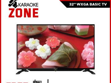 "Sharp 32 inch 2T-C32CB1M 32"" WXGA BASIC TV (2 Years Warranty) / Sharp 32 Basic TV / Sharp TV with WALL BRACKET and SHIPS WITH WOODEN CRATE - Karaoke Zone"