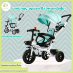 Movable seat child tricycle rotatable tricycle handle/canopy Two-in-one stroller