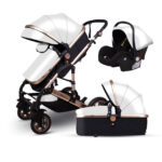 Fast ship ! High landscape baby stroller can sit reclining two-way four-wheel shock-absorbing folding baby pram