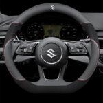 Suzuki Leather Car Steering Wheel Cover (Black) Logo Accessories 38cm Fits All Suzuki Models for Swift Grand Vitara Jimny Ertige SX4 Alto Ciaz Dzire APV S-Cross Ignis Alivio Kizashi Splash