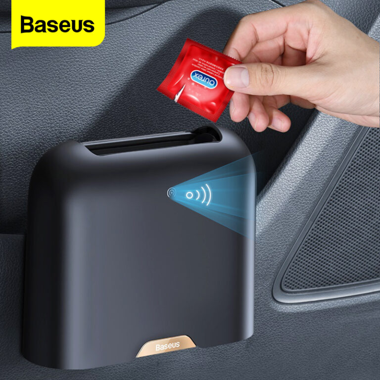 Baseus Car Trash Bin Intelligent Sensing Dustbin Garbage Bucket Rubbish Bag Holder Auto Trash Can Car Organizer Storage Accessories