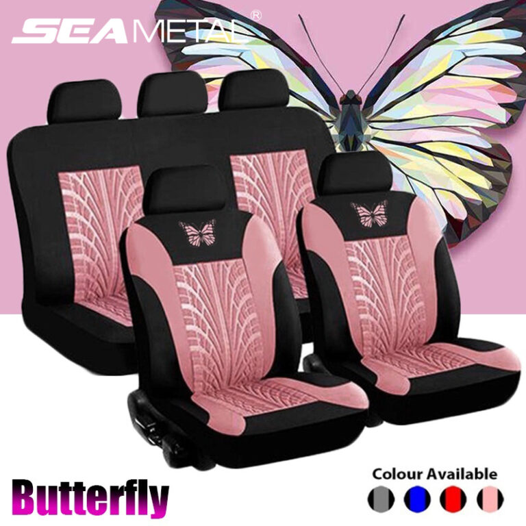 Universal Car Seat Cover Interior Comfortable Butterfly Embroidered Car Seat Cover