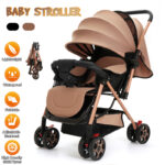 ?Big Sale?Portable Lightweight Baby Stroller Multi-functional Folding Travel Baby Stroller -3 Speed Adjustment / Breathable Sunroof / Waterproof / High Density Solid Tyres -Weight Capacity: 25kg