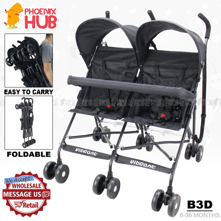 Phoenix Hub Baby Twin Stroller B3D Twin Stroller High Quality Double Baby Stroller Tandem Stroller Push Chair Foldable Stroller Baby Travel System