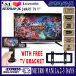 32  STAR X TV (Slim and Smart TV) with Free Wall Mount Bracket -(Sparc)