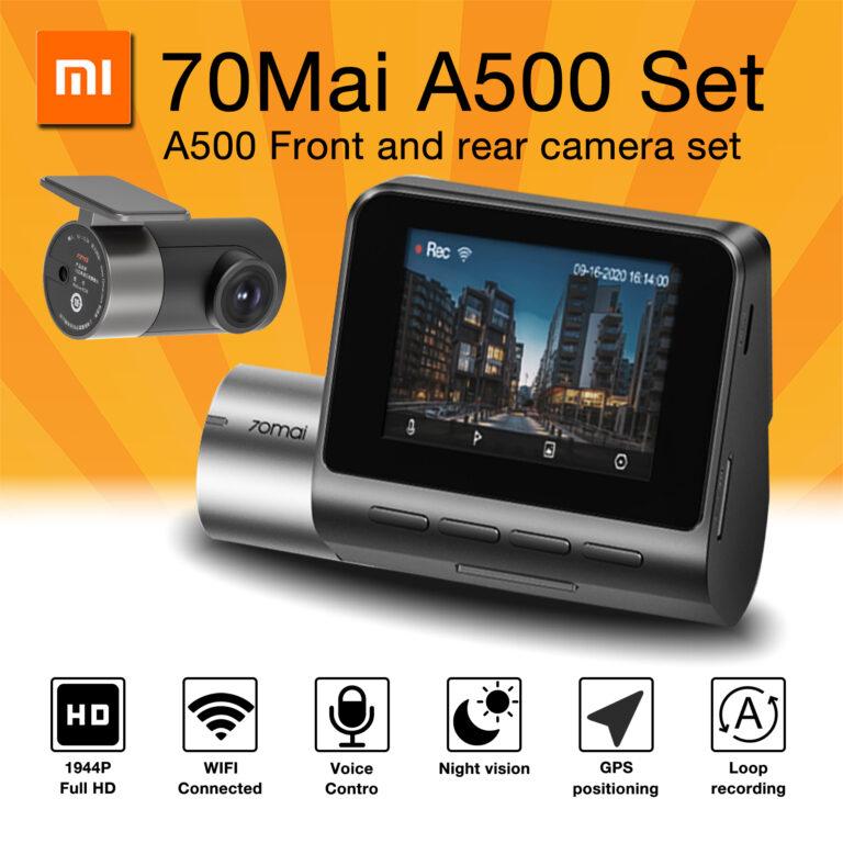 Xiaomi 70mai Smart Dash Cam Pro Plus 70mai Plus Car DVR Built-in GPS 1944P Speed Coordinates ADAS 24Hours Parking A500