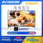 Avision 43 inch Digital FHD LED TV w/ 4K Android TV Box & Free Wall Bracket 43K802D