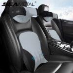 Car Massage Lumbar Pillow for Head Neck Massager Auto Travel Neck Pillow Headrest Universal Electric Car Accessories