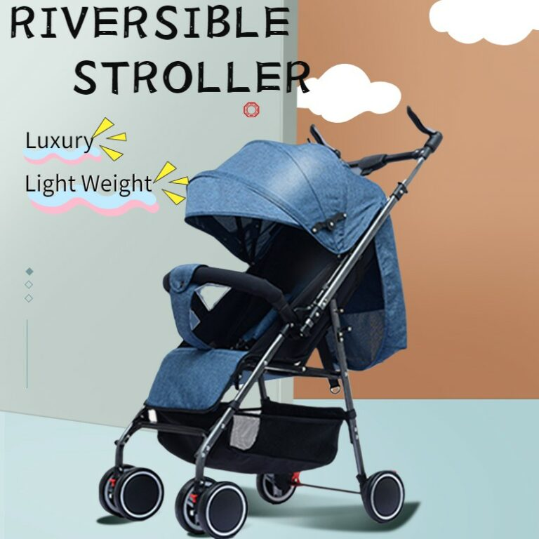 Lightweight Easy Fold Compact Travel Baby Stroller Reversible Handle Stroller