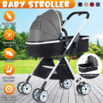 ?Big Sale?Portable Lightweight Baby Stroller Multi-functional Folding Travel Baby Stroller with Adjustable Backrest + High Density Solid Tyre -Weight Capacity: 6.7kg