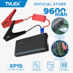 TYLEX XP15 Car Igniter Powerbank 9600mAh 3.7V 2 Inputs & Dual Outputs 350A Start Current 700A Peak Current 12V Start Voltage