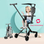 Jusanbaby Portable Baby Stroller Summer High Landscape Children Carts Reclining Baby Carriage Safe Comfortable Foldable Stroller