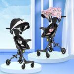 Lightweight Baby Stroller High Landscape Carriage Childred Walking Artifact Lightweight Folding Two-way Kids Pram