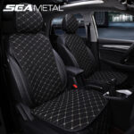 Flax Car Seat Covers Interior Automobiles Seat Cushion Universal Four Seasons Protector Mats Cover Seats Set on Auto Accessories